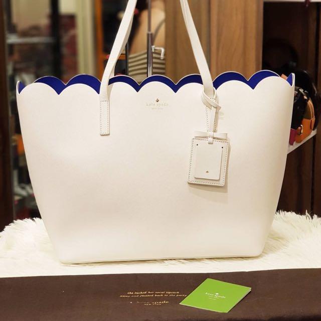 Used Kate Spade White Large Tote Bag