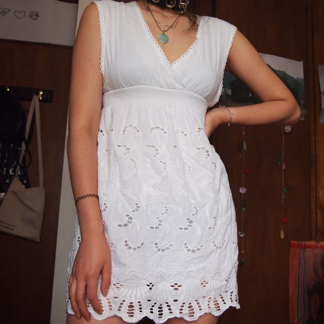 V Neck Lace Dress