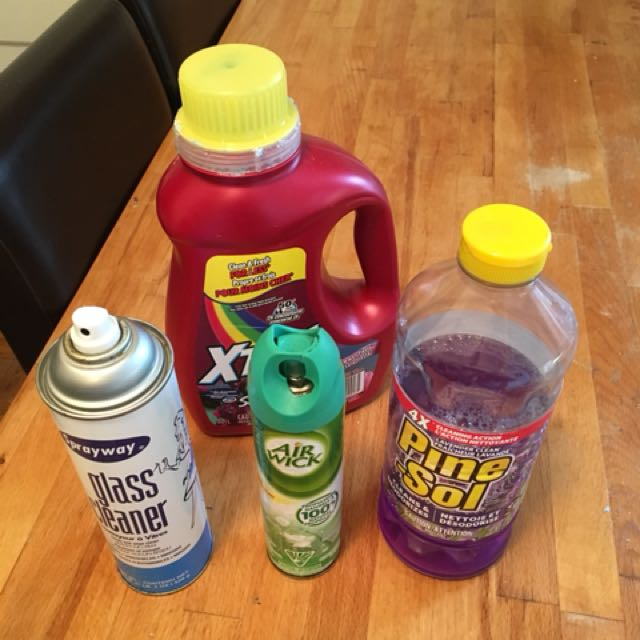 Various Cleaning Supplies