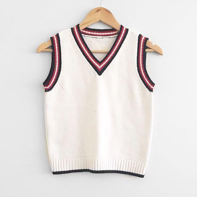 Varsity sweater vest