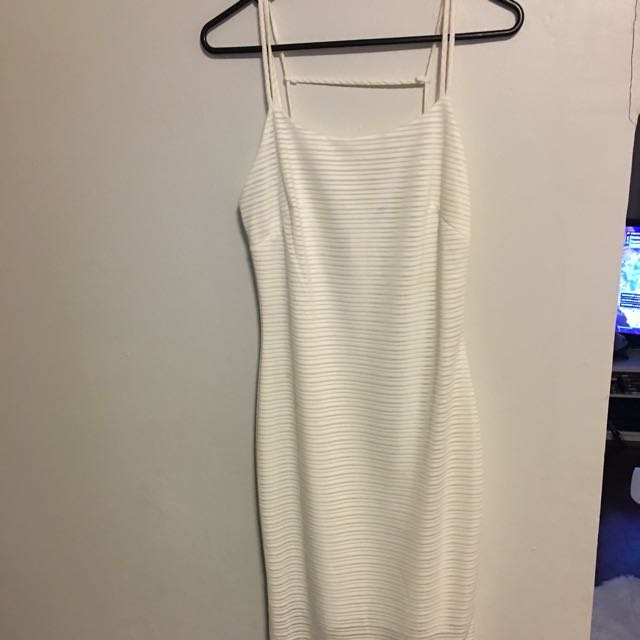 Vijo Couture white fitted dress