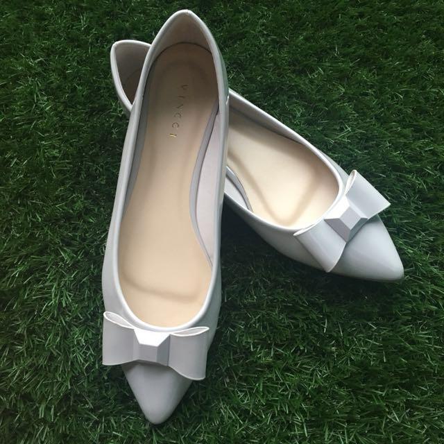 Vincci Gray Ribbon Shoes