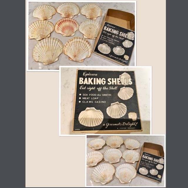 Vintage 1950's Baking Shells by Viking ,Japan