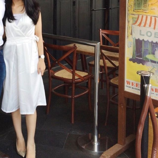 WHITE JUMPSUIT LOCAL BRAND