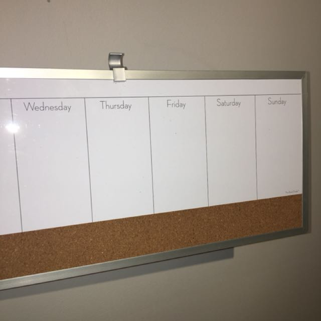 Whiteboard Weekday Calendar