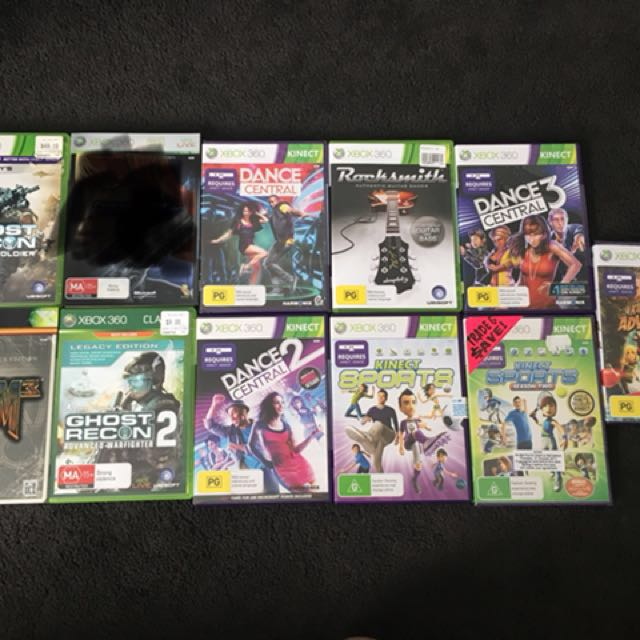 XBox 360 200GB with 10 Games + Kinect