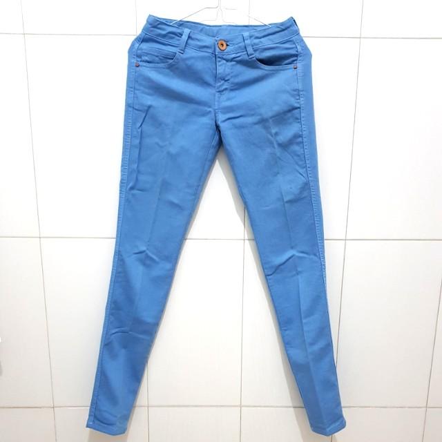 Zara Blue Skinny Trousers