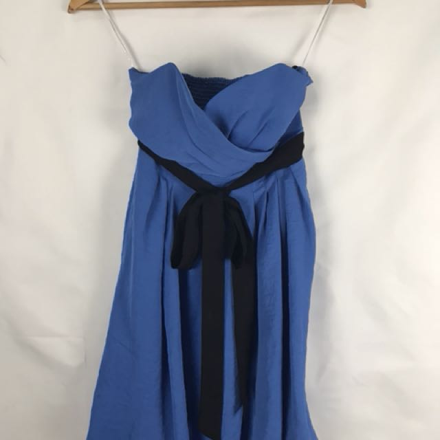 Zara Blue Tube Dress