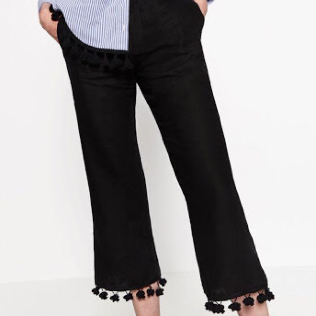 Zara Pom Pom Trousers