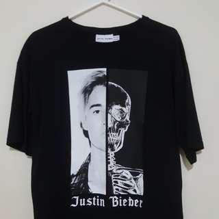 Justin bieber tour shirt oversized, size small