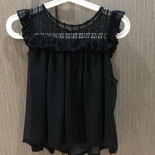 Black blouse free size