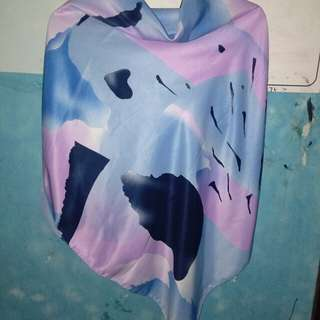 Jilbab segiempat maxmara abstrac
