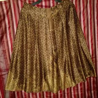 Serba 75rb - Rok Batik Coklat Silk