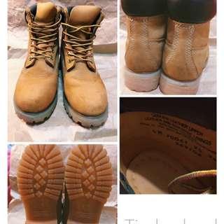 Timberland 黃靴 us6 女鞋