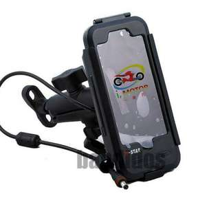 Waterproof IPhone holder for motorcycle and E Scooter