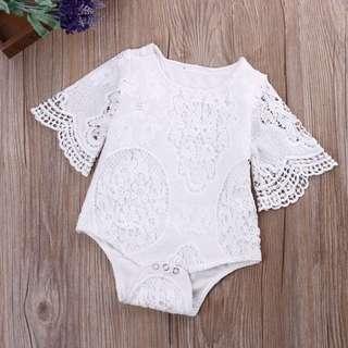 Baby Girl White Lace Bodysuit