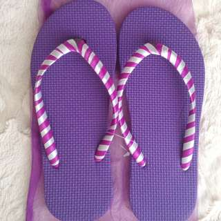 Colorful Beach Slippers - Violet