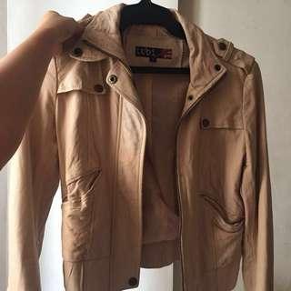 Nude Leather Jacket