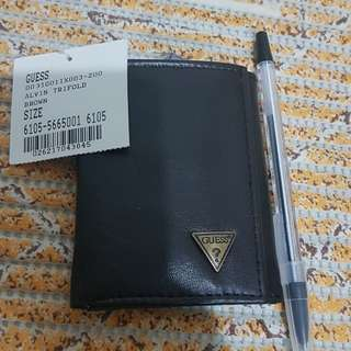 Guess trifold leather wallet