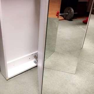Large three mirrored medicine cabinet