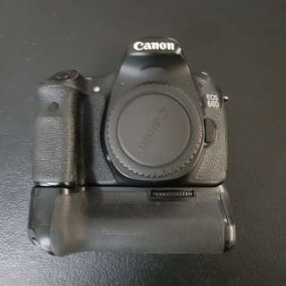 Canon 60D with Original Canon Battery Grip
