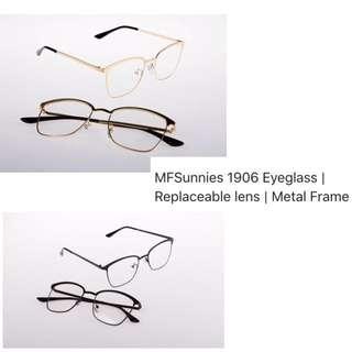 MFSunnies 1906 Eyeglasses   Replaceable Lens  Metal Frame.