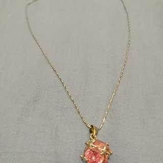 粉紅水晶頸鏈