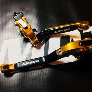 Honda CB400 Titanium CNC Fully Adjustable Levers