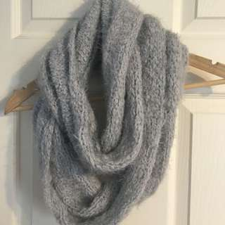 Little grey infinity scarf
