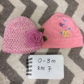 Baby girl hat 2pcs