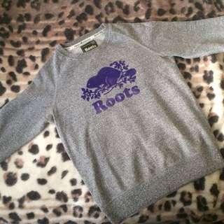 Roots Crewneck Purple/Grey