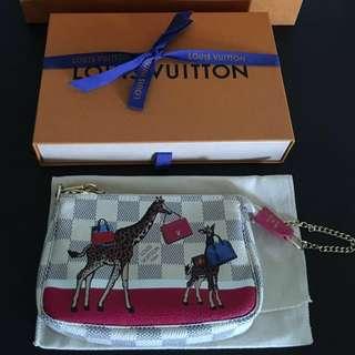 Authentic Louis Vuitton Damier Azur mini pochette