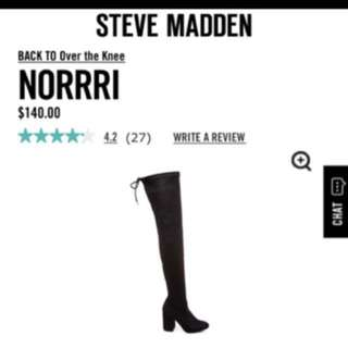 Steve Madden Norrri Over the Knee Boots Size 7