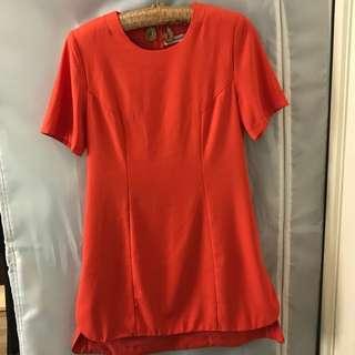 Orange Tshirt Dress