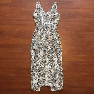 Brand New Portmans Black And White Leopard Print Dress Size 6