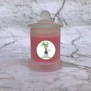 Mini Strawberry Scented Glass Candles