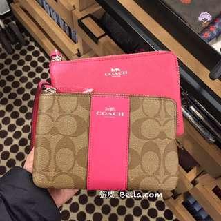 🚚 美國代購🇺🇸 Coach 新款 單層手拿包 手拿包 粉色 桃粉色