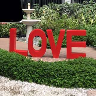 LOVE standee wedding prop wedding decoration solemnisation ROM proposal party venue 3D letters for Rent