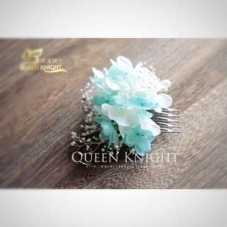 [Brand new] Preserved Flower Headpiece / Bridal Hair Comb / Hair Accessories / Floral Hair Comb