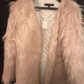 Light Pink Faux Fur Jacket