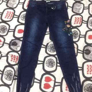 P&Co embroidery jeans