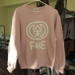 Pink FAKE hoodie, size M