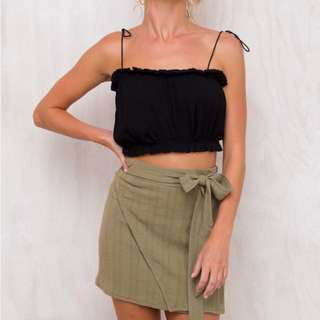 PRINCESS POLLY KHAKI SKIRT SIZE 8