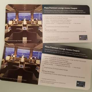 Cathy Pacific Plaza Premium Lounge Access Coupon