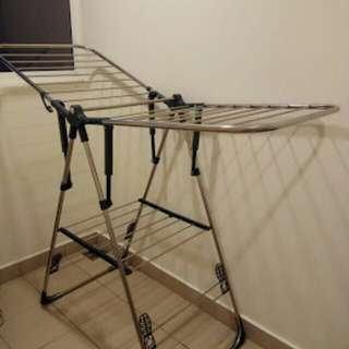 Large drying rack Stainless metal foldable clothes #pbf80