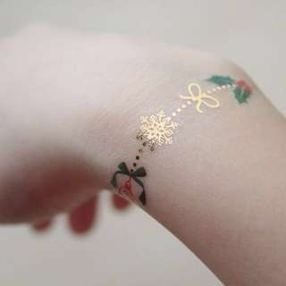 Gold Christmas Temporary Tattoo #1212YES