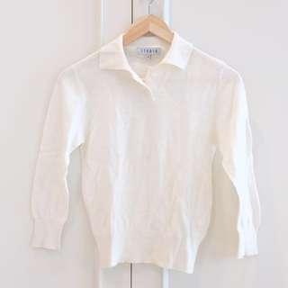 Studio Off cream sweater size M