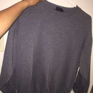 Grey hill top Crewneck