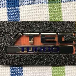 VTEC TURBO Emblem