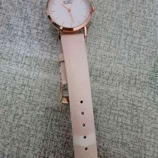 變色錶帶玫瑰金手錶